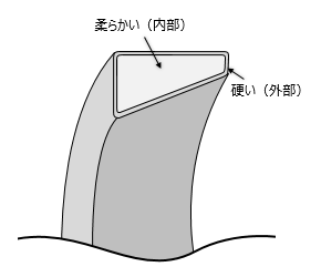 図4 浸炭鋼を使ったベアリング(円すいころ軸受の外輪)